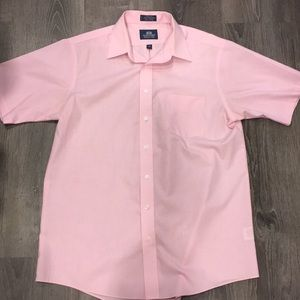 Short sleeve pink button down